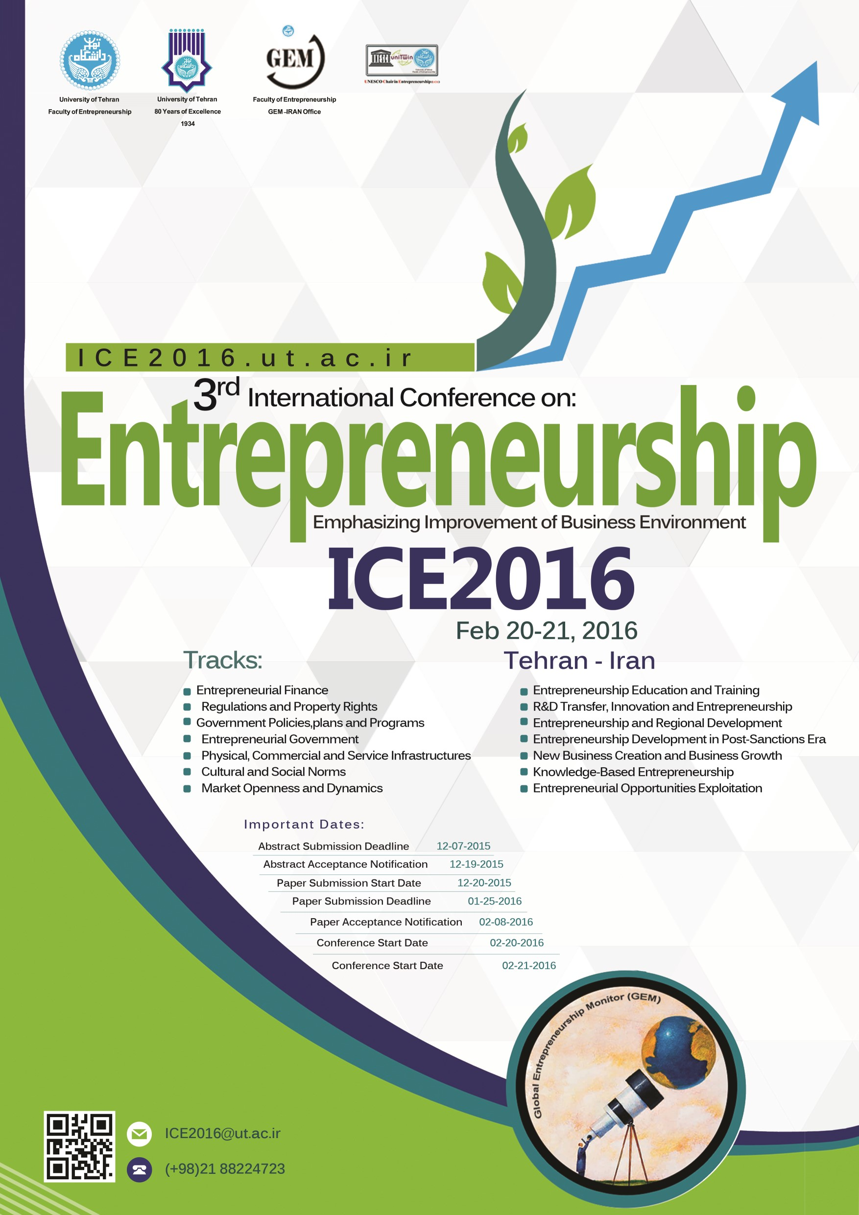 "The 3rd International Conference on ""Entrepreneurship: Emphasizing Improvement of Business Environment"""